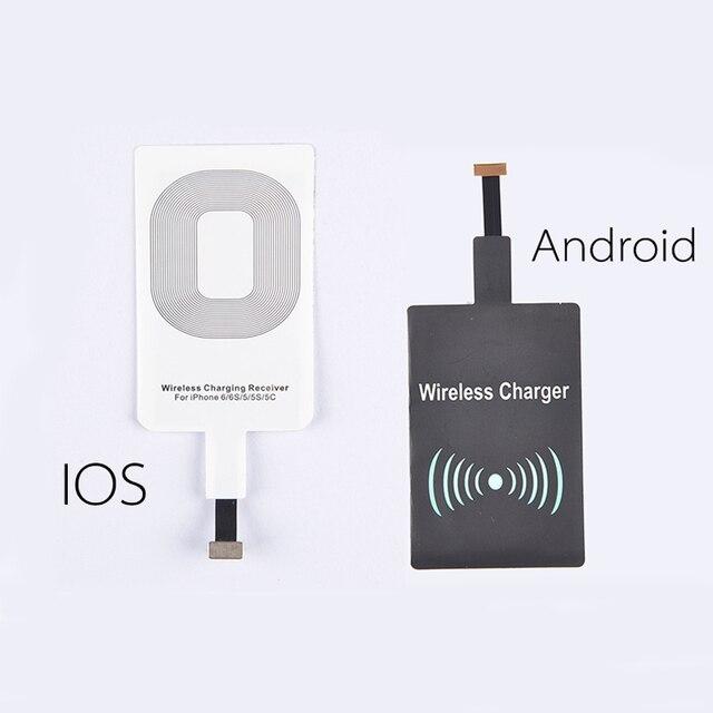 HW02 Ци Стандартный Smart Беспроводной Зарядки Pad Зарядное Устройство Приемника Катушки для Android для iPhone 5s SE 6 6 s Plus Для Samsung S6 S7 Note