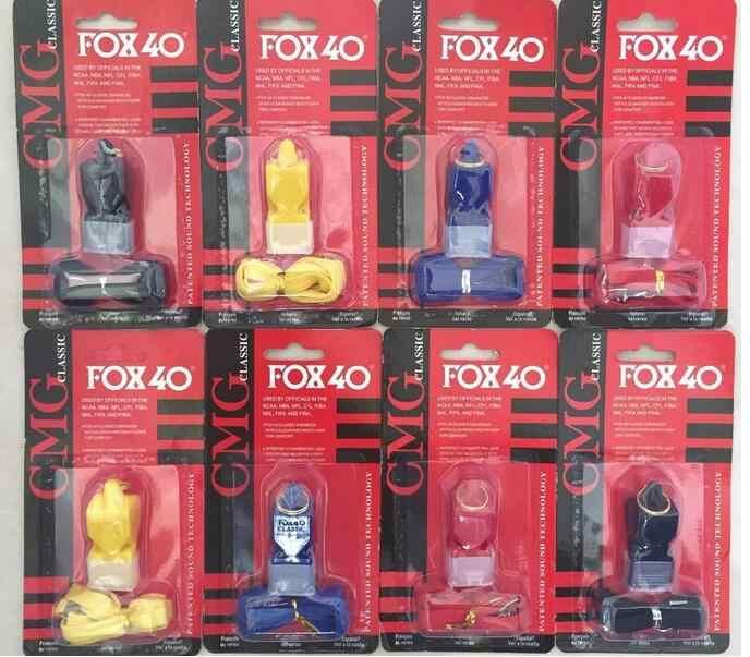 EDC fox40 משרוקית פלסטיק שועל 40 כדורגל כדורגל כדורסל הוקי בייסבול ספורט קלאסי שופט משרוקית הישרדות חיצוני