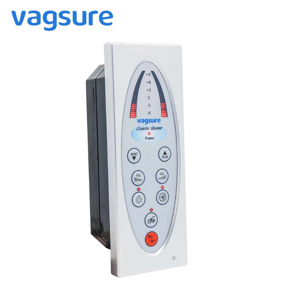 Vagsure 1Pcs Digital Shower Room Control Panel Fm Radio Vent Fan Speaker Waterproof IPX5 For Controller Shower Cabin Accessories