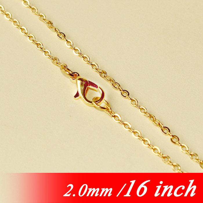 d970e2a12 الأزياء 2 ملليمتر كابل مسطح والمجوهرات وصلات مع جراد البحر المشابك diy ذهبي  اللون 16 للمعادن قلادة سلاسل المعلقات النتائج بالجملة