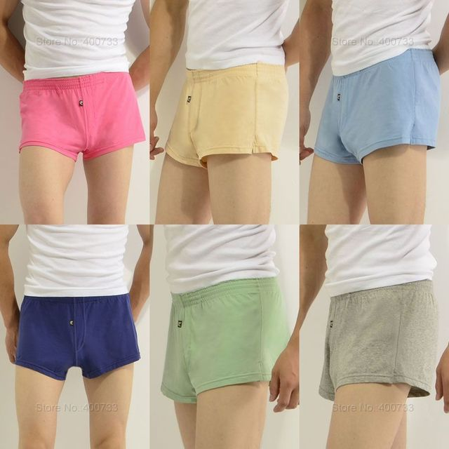 New Cotton Men s Sport Boxers Shorts Loose Underwear Fit Size M L XL 27-35  In Free Shipping 38fa20f4ffd