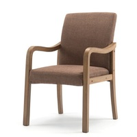 Modern Wood Dining Chair Simple Nordic Reclining Chairs Cloth Study Armchair Lounge Chair Hotel Restaurant Chairs