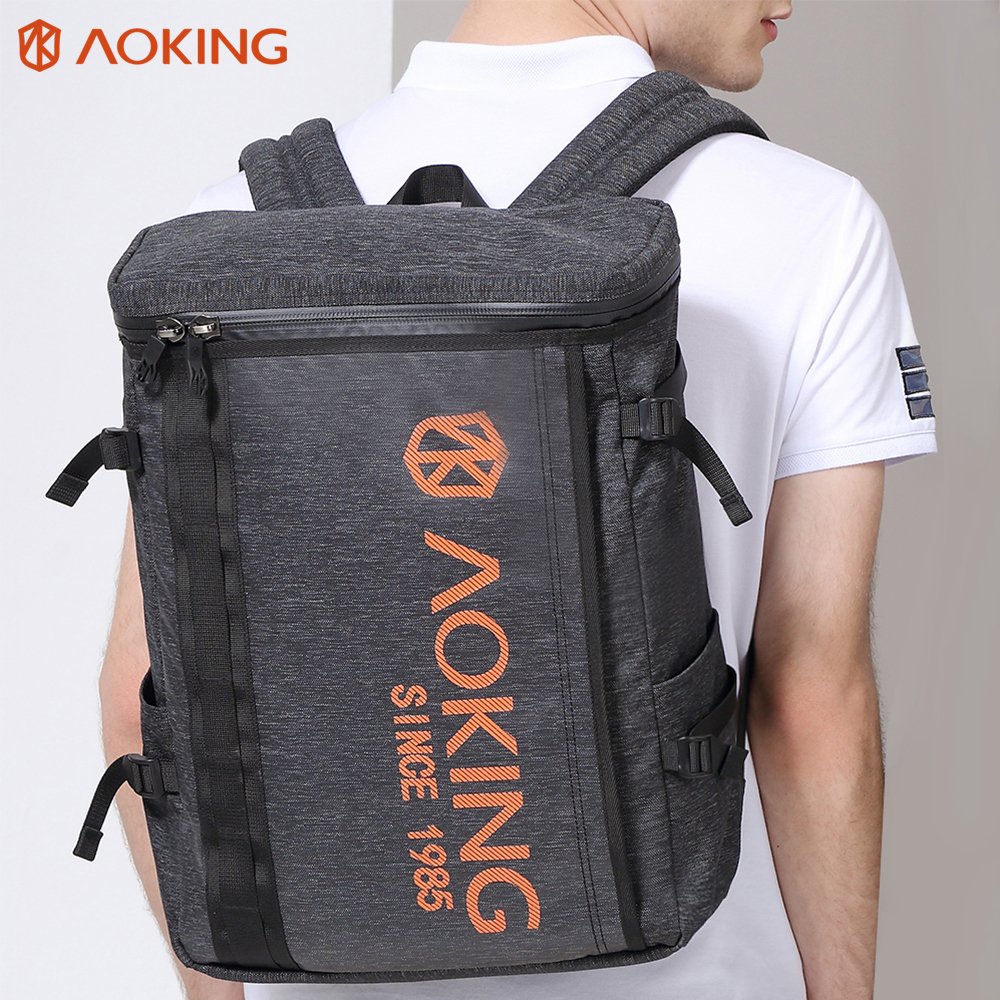 2017 Aoking Preppy Style School Backpacks Mochila for Men and Women Large Backpack 14-15 Inch Laptop Backpack School Rucksack baijiawei men and women laptop backpack mochila masculina 15 inch backpacks luggage