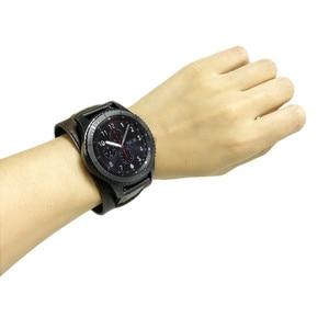 Image 5 - 22mm 20mm 정품 가죽 시계 밴드 커프 스트랩 팔찌 삼성 기어 S3 기어 S2 화웨이 시계 2 Huami AMAZFIT Watchband sams