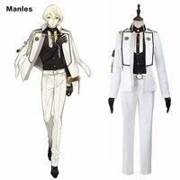 Touken Ranbu Online Cosplay Higekiri Costume White Uniform Anime Outfit Adult Halloween Clothes Carnival Costume Tailored