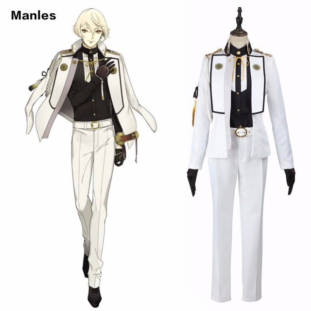 Touken Ranbu Online Cosplay Higekiri Costume White Uniform Anime
