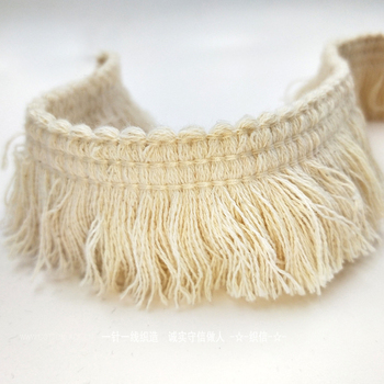 30Meters High Quality Cotton Fringe Lace Trim Ribbon DIY Craft For Clothing Apparel Sewing Accessories Design Tassel Lace Fabric