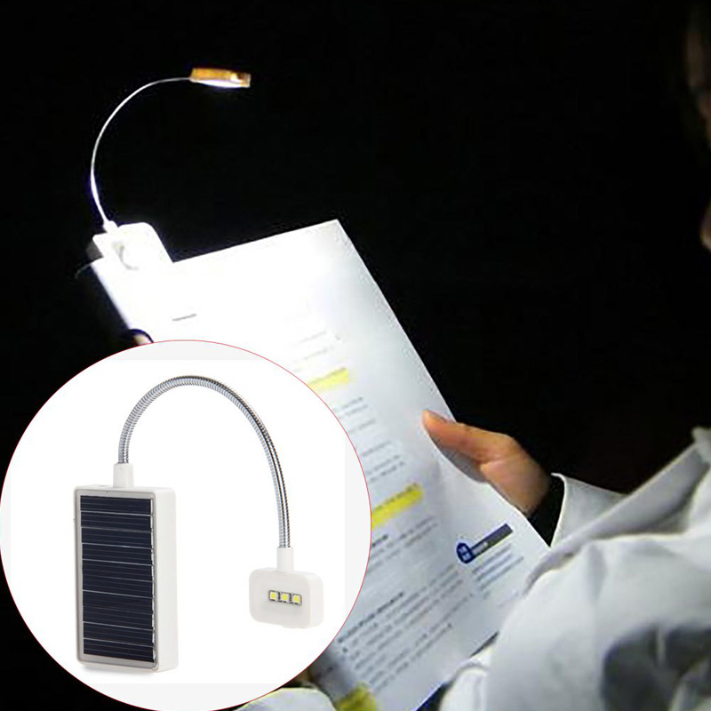 5V 80mA Adjustable Mini Solar LED Book Light Clip Multi-Use Led Table Lamp Suitable For Music Stand Or Book Reading Light