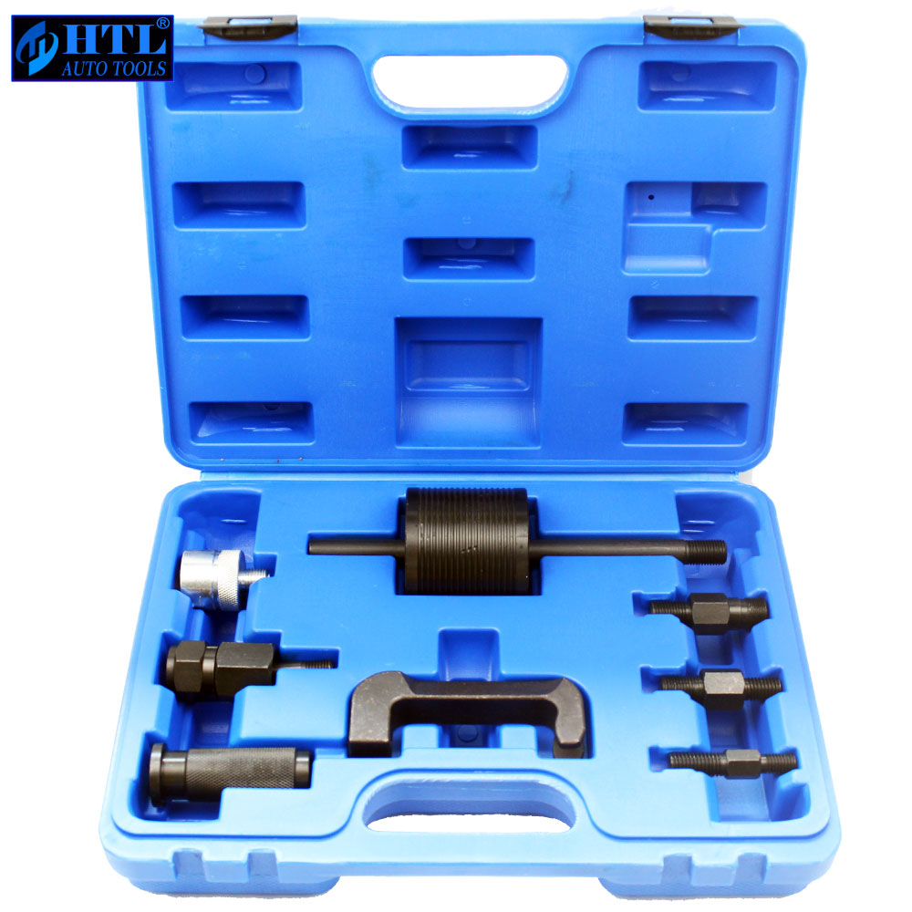 9pcs Diesel Injector Extractor Set Engine Service Tool Fuel injector puller For Benz Automotive Repair Tools