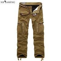 29-40 Erkekler Kargo Pantolon Kış Kalın Sıcak Pantolon Tam Boy Çok Cep Rahat Askeri Baggy Taktik Pantolon