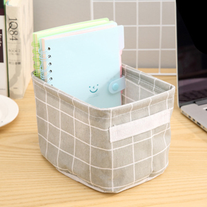 Image 4 - Cotton Storage Boxes Make Up Cosmetics Organizer Book Container Dirty Clothes Casket Portable Office Organizer With Handle