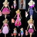 30 items = одежда + обувь + вешалки стиль цвет одежда вечернее платье для Barbie кукла
