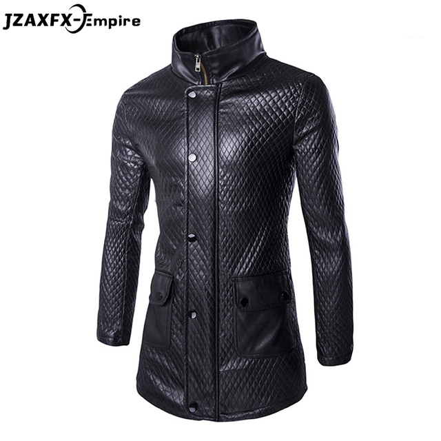 New Arrival Men Leather Jacket With hood High Quality Men Long PU Jackets Slim fit Fashion Design Clothing Brand Clothing