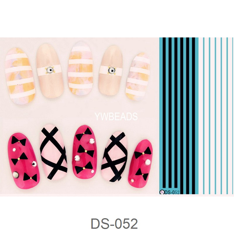 1 Piece Flower Number Plant Water Full Transfer Decal Cartoon Nail ...