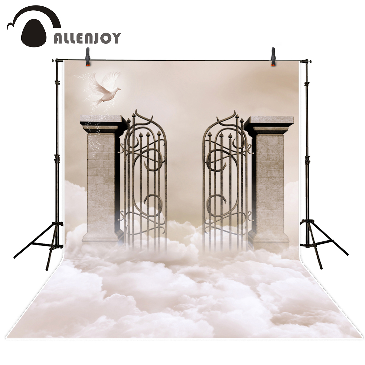 Allenjoy photography background Gate of heaven dove cloud background for photographic studio photography backdrop vinyl