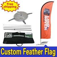 60 cm * 310 cm livraison gratuite personnalisée Double - face Durable personnalisé publicité plume drapeaux Drapeau De Plumes Fjader Flagg