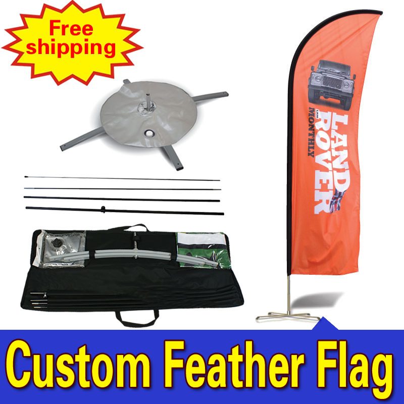 60cm * 310cm PENGHANTARAN PERCUMA Custom Double-Sided Durable Custom Iklan Feather Flags Drapeau De Plumes Fjader Flagg
