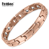 Hottime Bio Magnetic Stainless Steel Health Care Magnetic Therapy Bracelet 20 PCS Full 99 9999 Germanium