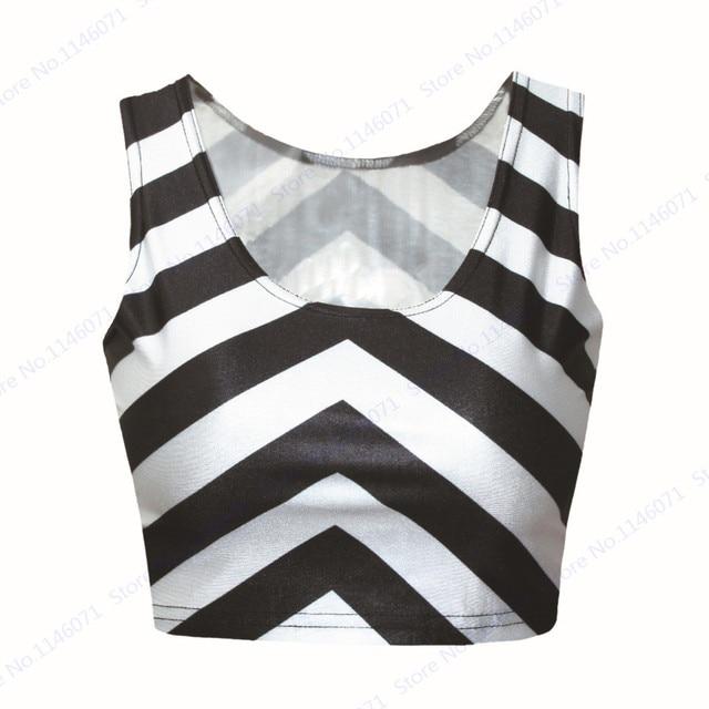 9977f11055f Popular Zebra Crop Top Cropped Vintage Tops Tank Bustier Sleeveless  Bodyshape Black White Stripe Running Vest Tube Top Women
