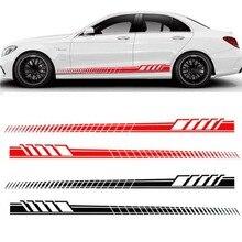 2 шт Универсальные гоночные боковые полосы капота наклейки для всех автомобилей виниловые наклейки на бампер