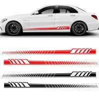 2 stücke Universal Racing Körper Seite Streifen Haube Aufkleber Für Alle Auto Vinyl Auto Aufkleber