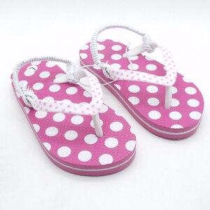 Image 1 - 2020 yaz çocuk Flip flop pembe nokta Antiskid sandalet yumuşak rahat erkek kız terlik plaj çocuk ayakkabı