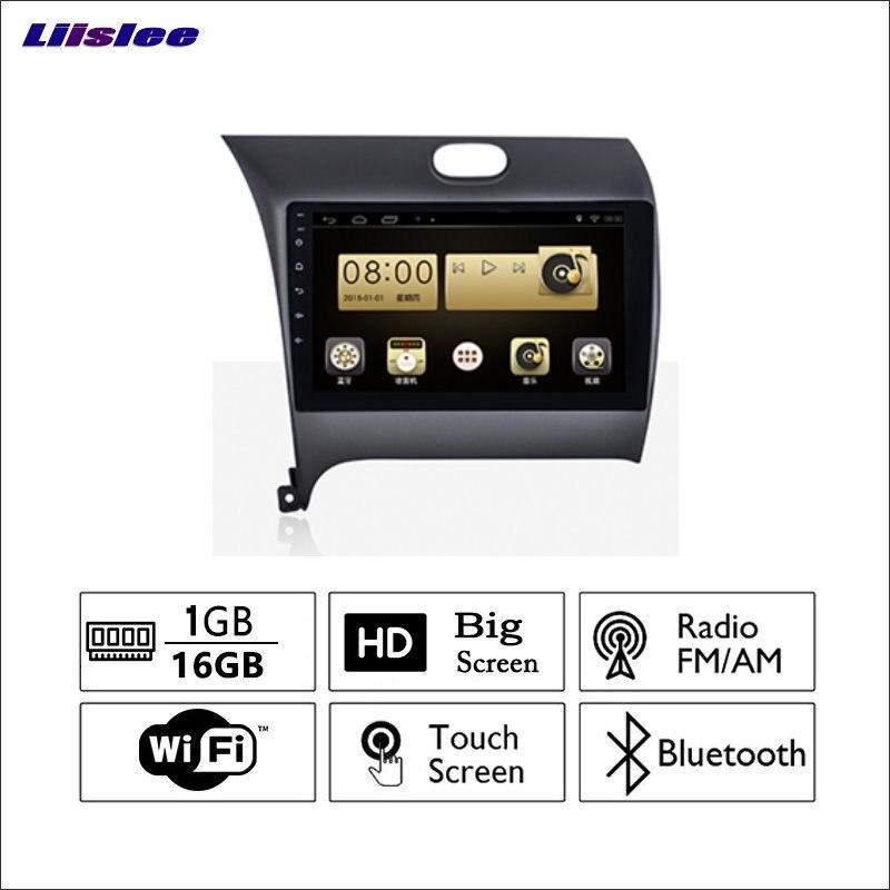 Liislee pour KIA K3 2012 ~ 2017 autoradio GPS Audio vidéo lecteur multimédia WiIFi DVR Navigation système Android pas de CD DVD