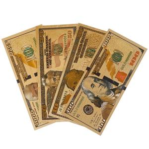 Горячая продажа 8 шт./лот 8 различных дизайн доллар США Позолоченные банкноты Америка бумажные деньги для сбора/банкноты