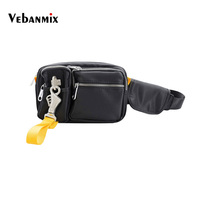2019 Waterproof Waist Packs Fanny Pack Waist Bag Men Fashion Streetwear Metal Buckle Hip Chest Bag for Men Travel Phone Belt Bag