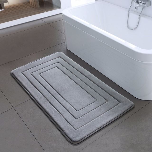 Anti-Slip Solid Color Bathroom Mat