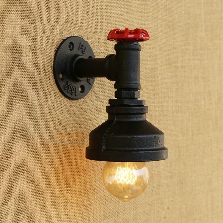 American Loft Style Vintage Nástěnná lampa Průmyslová kreativní Ložnice Retro Nástěnná svítidla Jednoduchá Edison žárovka Light Wall nástěnná svítidla
