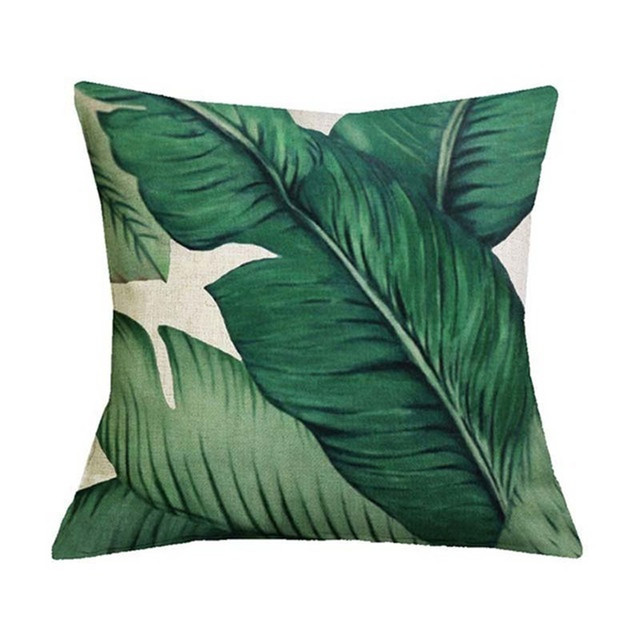 Tropical Green Leaves – Decorative Cushion Covers