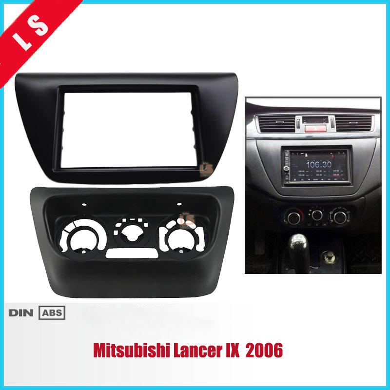 2pcs AC Control Accessories Panel Car Radio Fascia for Mitsubishi Lancer IX 2006 Center Control DVD