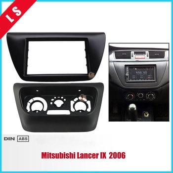 2 pz AC Accessori Pannello di Controllo + Autoradio Fascia per Mitsubishi Lancer IX 2006 Centro di Controllo Lettore DVD Telaio Trim Kit 2DIN
