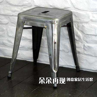 Small Metal Stool Stool Bar Stool Chair Marais Chair Short Iron Metal  Outdoor Metal Fangdeng