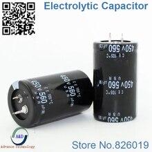 5 ชิ้น/ล็อต 450 โวลต์ 560 ยูเอฟ Radial DIP อลูมิเนียม Electrolytic ตัวเก็บประจุขนาด 35*50 560 ยูเอฟ 450 โวลต์ความอดทน 20%