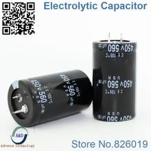 5 unids/lote 450v 560uf Radial DIP condensadores electrolíticos de aluminio tamaño 35*50 560uf 450v tolerancia 20%