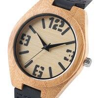 Simple Nature Wood Watch For Men Women Bamboo Fashion Quartz Wristwatches Cool Montre Femme Marque De