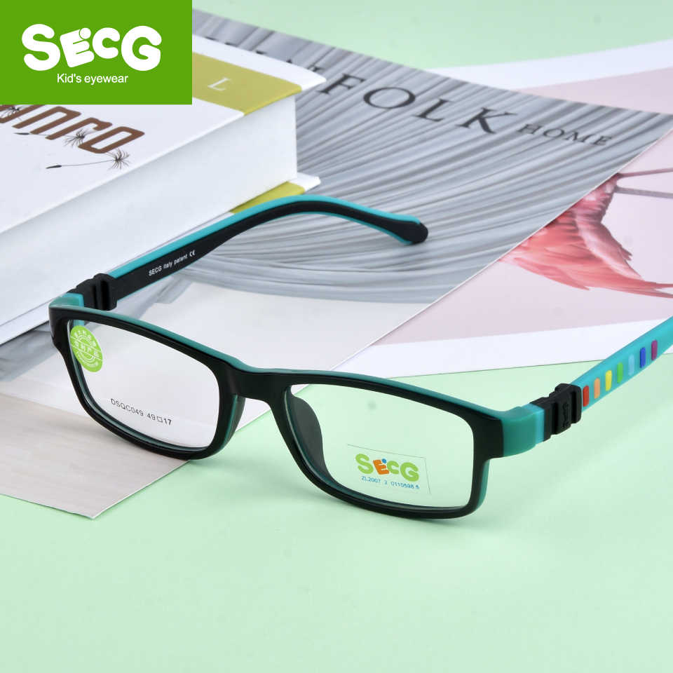 SECG Ultra light Silicone TR90 Children Glasses Boy Girls Child Safety Eyewear Child Prescription Optical Frame Oculos de so