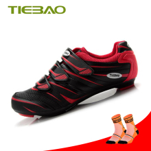 TIEBAO Cycling Shoes men women road bicycle sapatilha ciclismo breathable bike sneakers self-locking shoes sapato ciclismo new men athletic breathable road slip on hard court sport leather walking shoes autolock sapato ciclismo sneakers