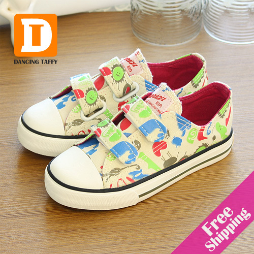 New 2015 Casual Children Shoes For Girls Canvas Pr...