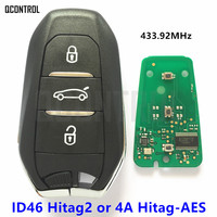 QCONTROL Smart Remote Key for Citroen C4 C5 Grand Picasso Cactus AirCross C Crosser 433.92MHz Car Keyless Go