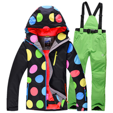 2016Quality goods women ski jacket veneer skiing clothes warm pants trousers outdoor sports skiing jackets waterproof Breathable