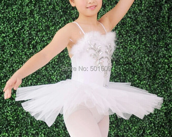 Free shipping childrens girls swan lake ballet leotard dress sequins beaiding/ballet leotard/fancy dress stage performance