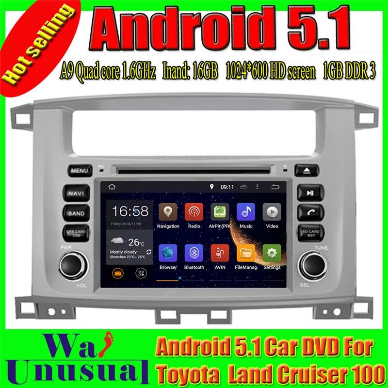 100% Waar Wanusual 7 ''octa Core Android 6.0 Gps Navigatie Voor Toyota Land Cruiser 100 1998 1999 2000 2001 2002 2003 2004 2005 2006 2007