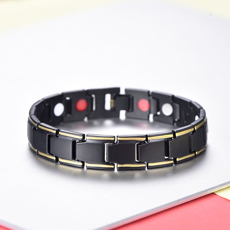 2019 New Fashion Jewelry Therapeutic Energy Healing Bracelet Stainless Steel Magnetic Therapy 5 Colors