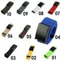 Fashion Unisex Plain Webbing Mens Boys Waist Belt Waistband Casual Canvas Belt Multi Colors