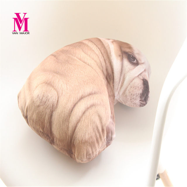 Vanmajor New Simulation Shar Pei Dog Plush Pillows Stuffed Cartoon Mother And Baby Toys Dolls Animal Cushion Birthday Gift