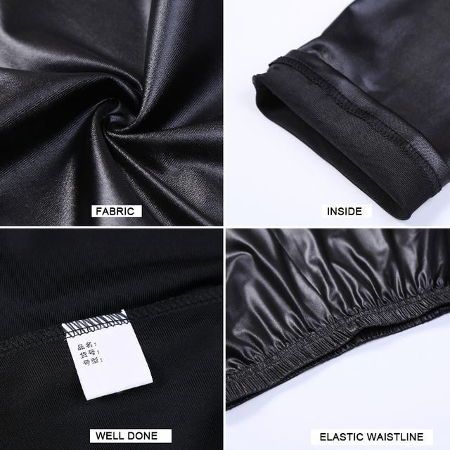 S-3XL New Autumn 2019 Fashion Faux Leather Sexy Thin Black Leggings Calzas Mujer Leggins Leggings Stretchy Plus Size 4XL 5XL 5