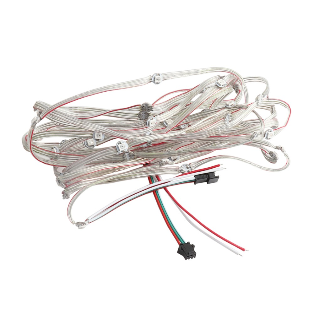 WS2812B DC5V Pre-soldered LED Module String Flexible Wire Addressable Individually Panel SMD 5050 RGB Pixel 50 100 pcs/lot JQ wire